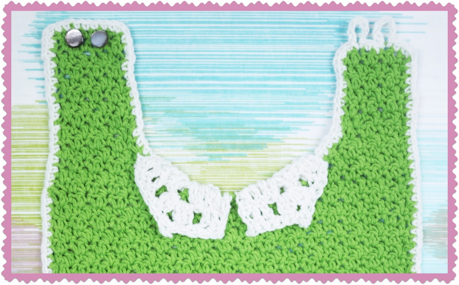 Bernat Crochet Baby Bib Pattern : New Free Cotton-ish Pattern: Little Ladies Who Lunch Bib ...