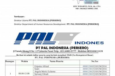 Pengumuman Penipuan Lowongan Kerja PT PAL Indonesia (Persero)
