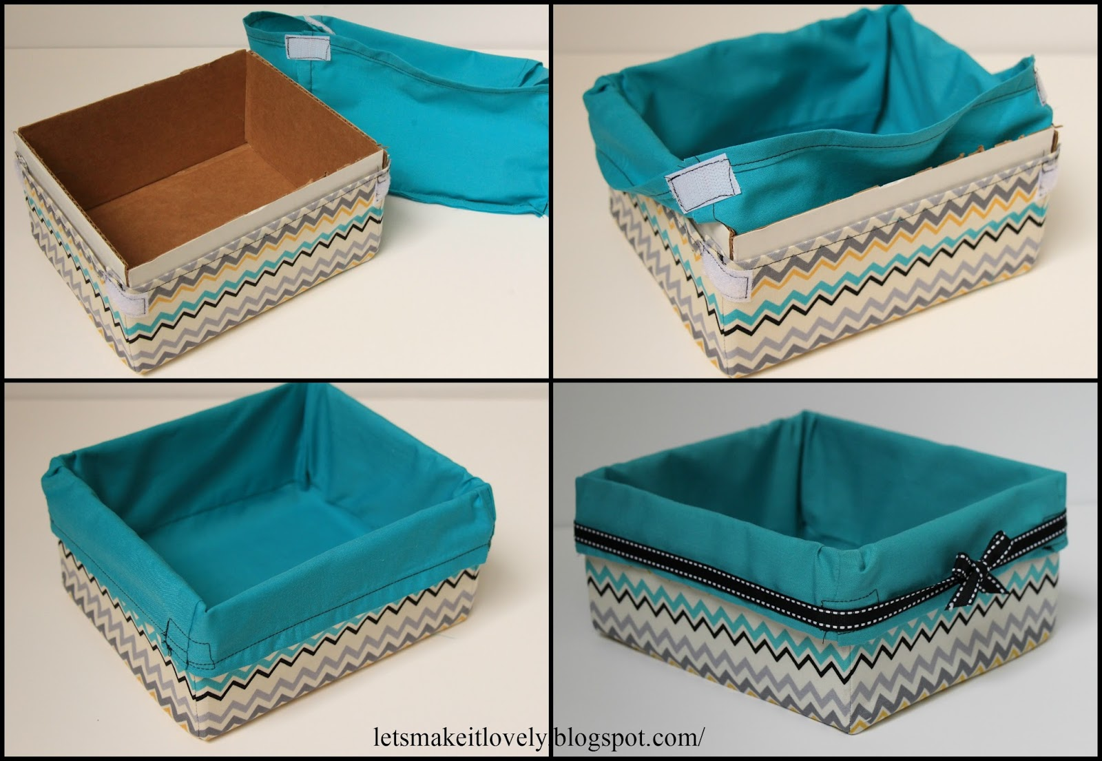 Upcycled Fabric Basket from Cartons