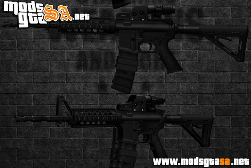 SA - Rifle M4A1 PMAG + EOtech e Magnifier