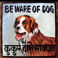 Buy Beware Of Dog Aluminium Plate Rs. 96 only Via dogspot