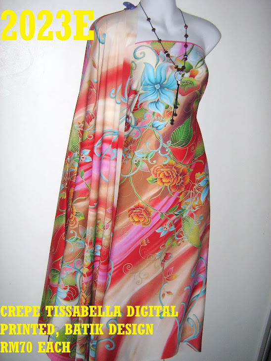 CTD 2023E: BATIK CREPE TISSABELLA DIGITAL PRINTED, EXCLUSIVE DESIGN, 4 METER
