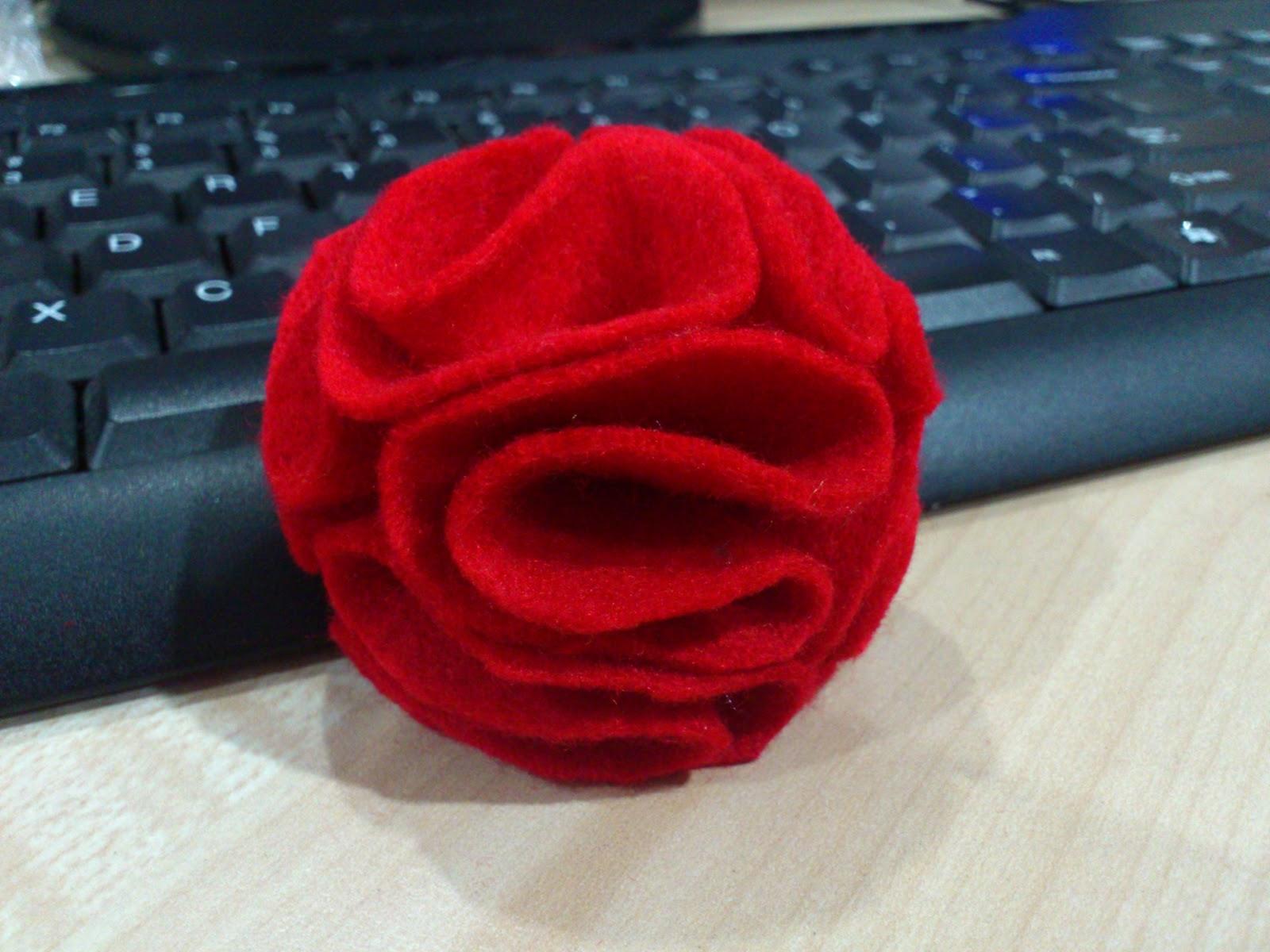 Tutorial Bunga Kain Felt~~