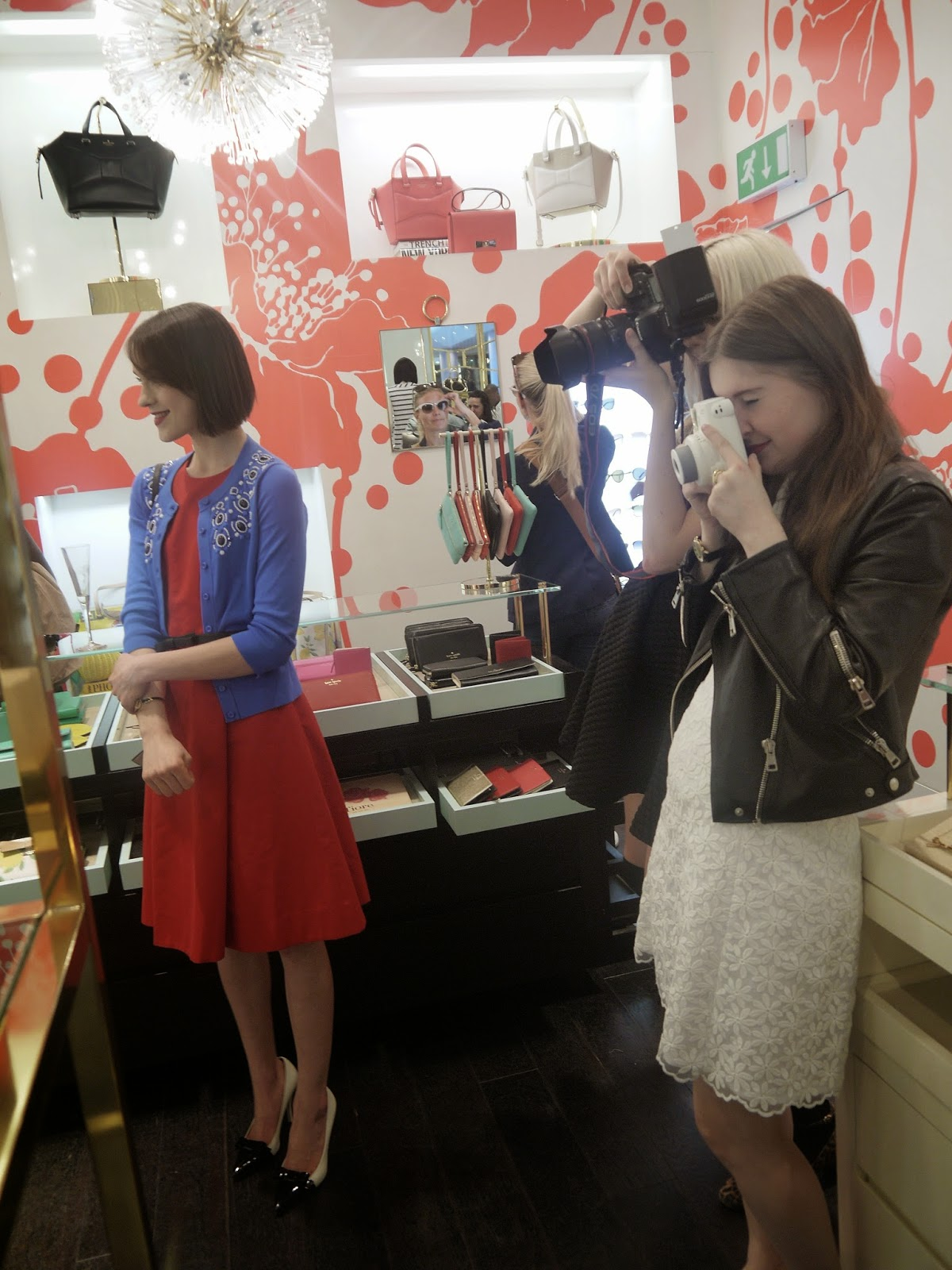 Ella Catliff and Holly McGlynn at the Kate Spade Event