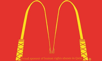FIFA, anti-logos corporativos, McDonalds
