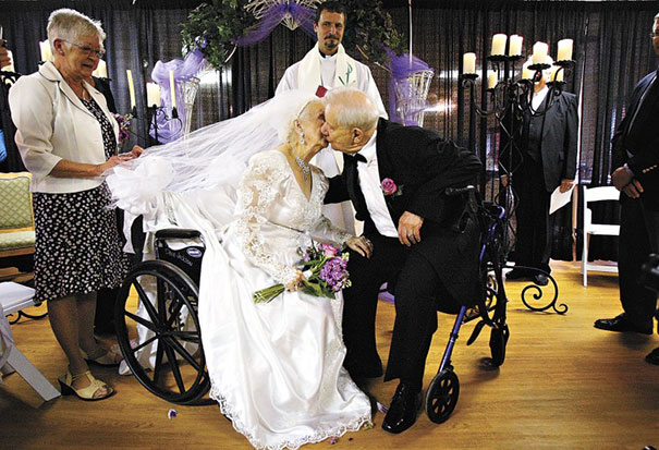 16 Elderly Couples Prove You're Never Too Old To Have Fun - Getting Married On The Bride's 100th Birthday
