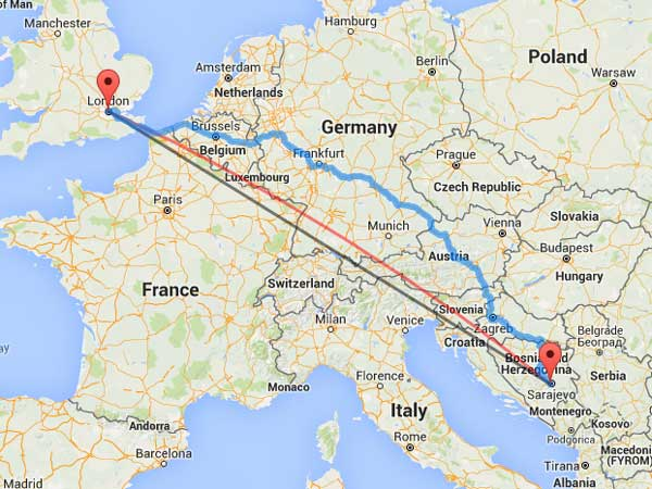 What 1,005 miles looks like on a map