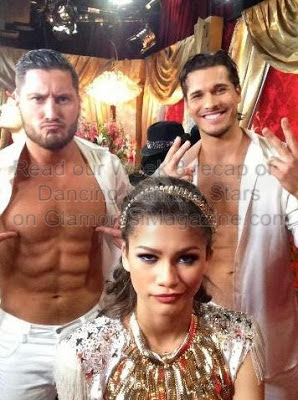 Zendaya, Val Chmerkovskiy and Gleb Savchenko of Dancing with the Stars on ABC