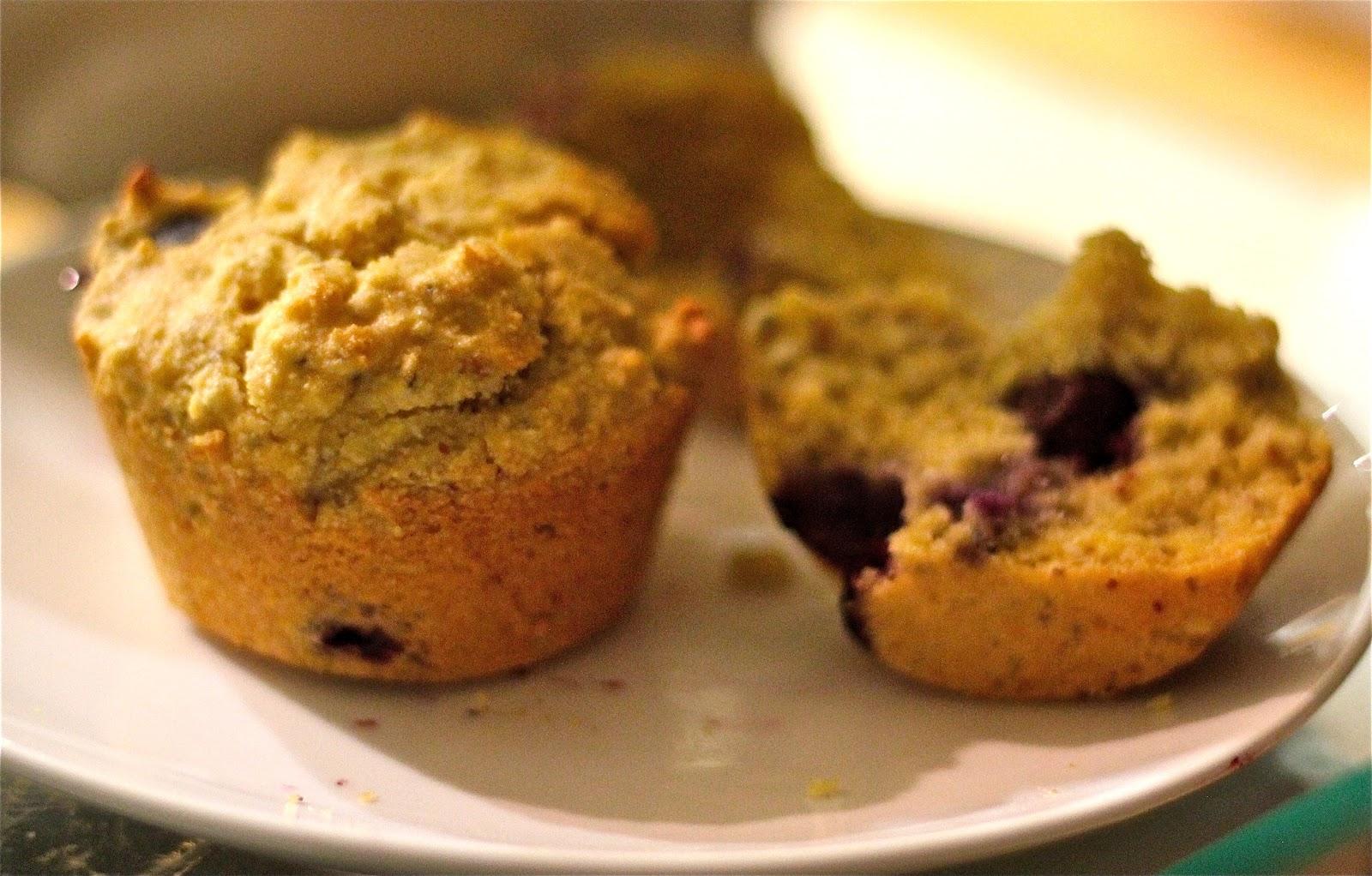 picnic bakery: Gluten-Free Blueberry Corn Muffins