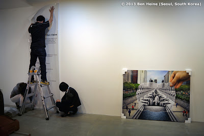 Hanging of Artworks - South Korea