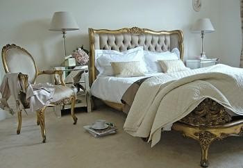 The Gilt Luxury King Size Bed Is A Stunning 16th Century French Styled Featuring Luxurious Deep Headboard Buttoning Upholstered In Finest Grey