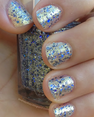 "Essie: Encrusted Treasures ""On a Silver Platter"" = Hanukkah Nails 