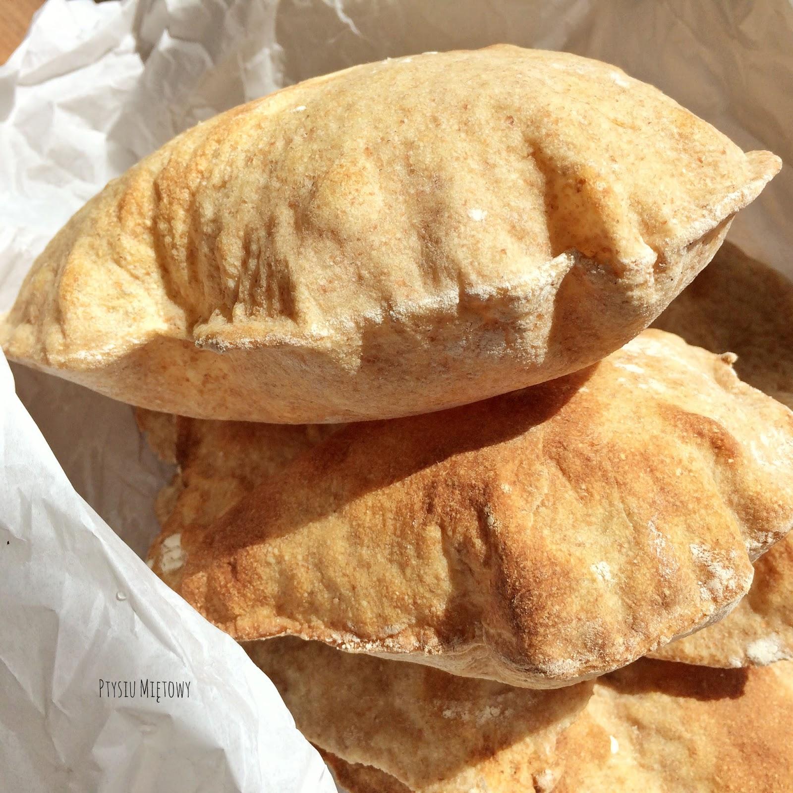 zytnio-pszenne chlebki pita, ptysiu mietowy