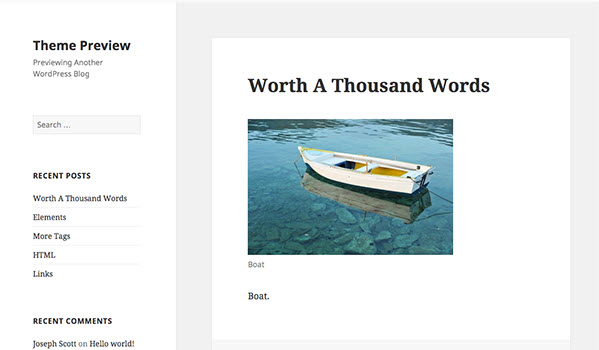 Twenty Fifteen Wordpress theme