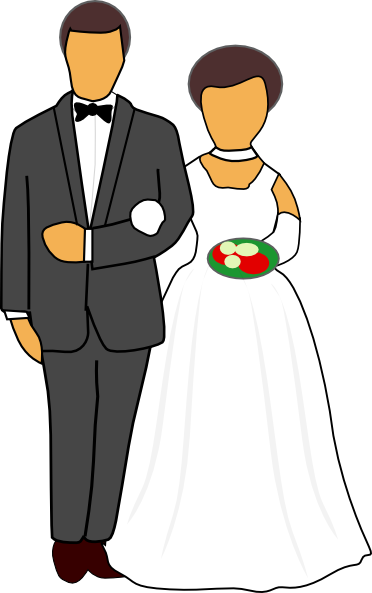 clipart of a wedding - photo #2