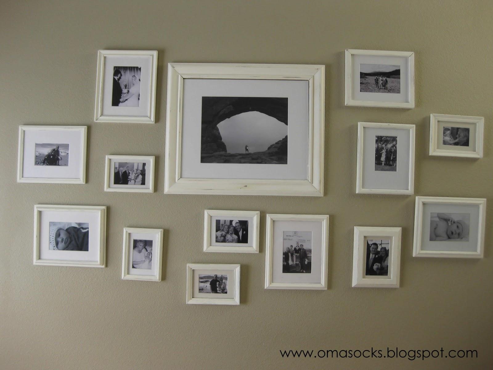 oma socks my 55 dollar collage wall. Black Bedroom Furniture Sets. Home Design Ideas