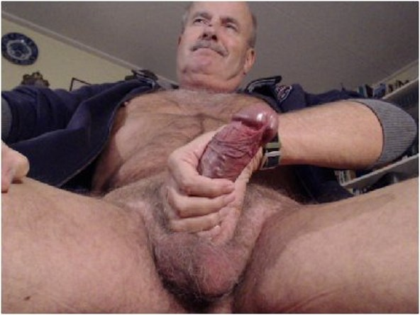 Hairy old men cock remarkable, rather