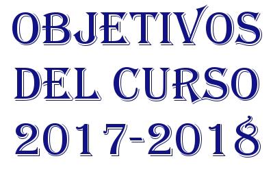 OBJETIVOS DEL CURSO 2017-18