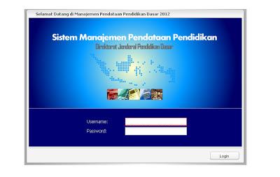 Buka http://pendataan.dikdas.kemdikbud.go.id Maka akan muncul gambar