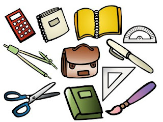 compas,calculadora, libreta, boligrafo,mochila