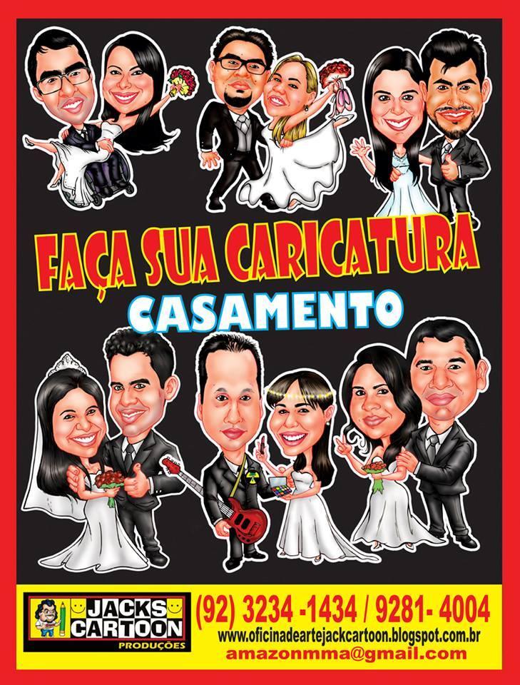 FAÇA SUA CARICATURA DE CASAMENTO com o Mestre JACK CARTOON