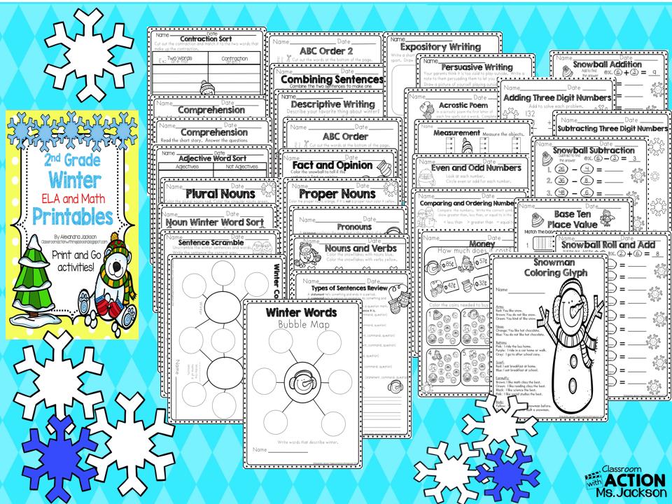 https://www.teacherspayteachers.com/Product/Winter-Printables-2nd-Grade-1595834