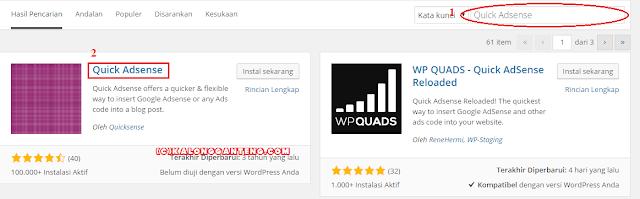 Cara Memasang Iklan Google Adsense ke Wordpress Self-Hosting