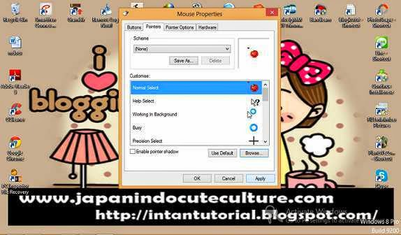 Cara Mengubah Pointer/Kursor Mouse Windows 8 Hanya beberapa Detik Saja