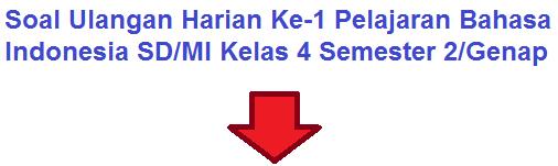 Soal Ulangan Bahasa Indonesia Kelas 4 SD/MI Bab 6 Semester 2