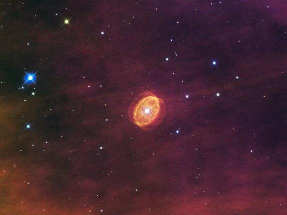 Astrofoto: Estrela e supernova