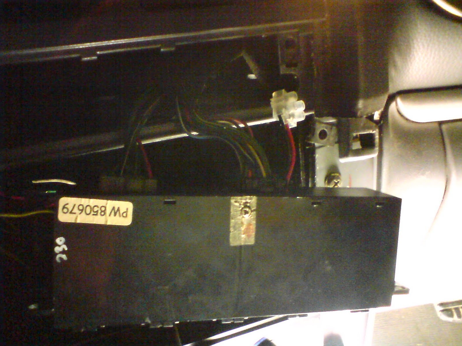 The panel pulled out with wires still on the port