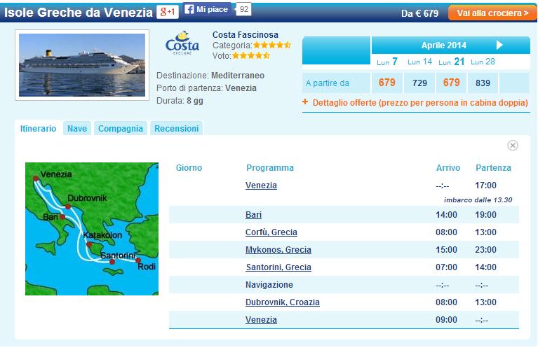 Crociera Isole Greche da Venezia