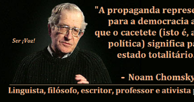 the use of noam chomskys propaganda About media control noam chomsky's backpocket classic on wartime propaganda and opinion control begins by asserting two models of democracy—one in which the public actively participates.