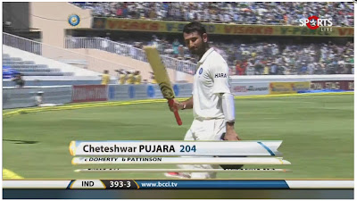 Cheteshwar-Pujara-204-Runs-vs-Australia-2nd-Test-1st-Innings-Hyderabad