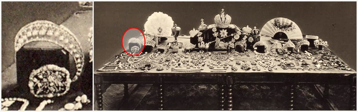 Tiara Thursday Boucheron Honey b together with 349029039841901172 additionally Tiara Thursday Russian Pearl Pendant besides Watch further Tiara Thursday Russian Wave Pattern. on missing crown jewels