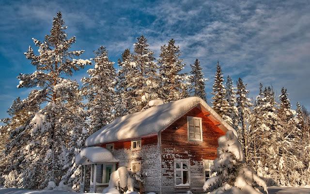Imagen Paisaje de Casita en Inverno HD