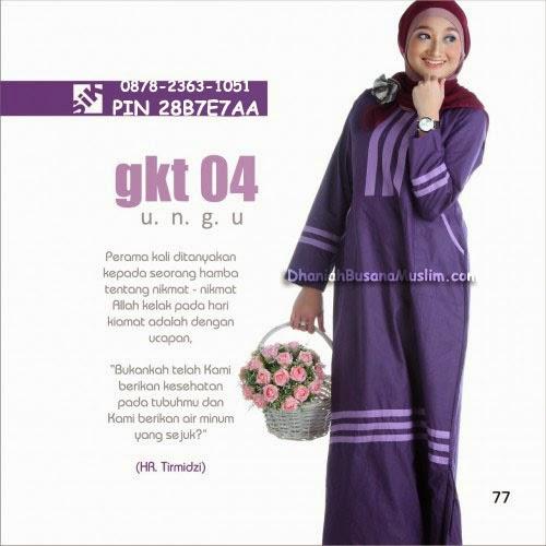 Gamis Sik Clothing GKT 04 Ungu