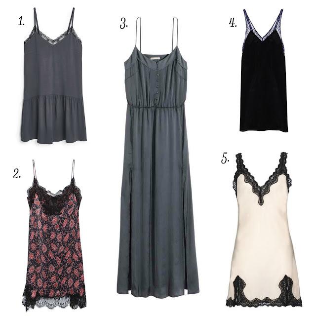tendencia moda otoño invierno 2015 vestido lencero lenceria sleep dress saten