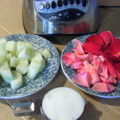 Cucumber, Rose Petals, and Greek Yogurt