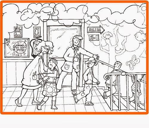 Pinto dibujos plan de protecci n civil para colorear for A que zona escolar pertenece mi escuela