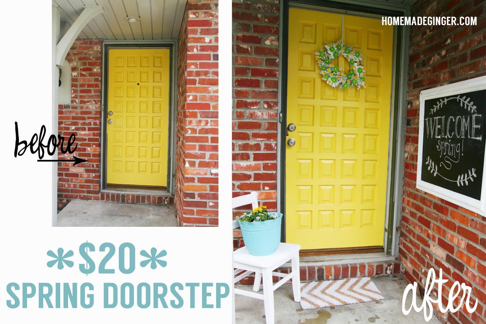 Homemade Ginger1: $20 DIY Spring Doorstep Makeover