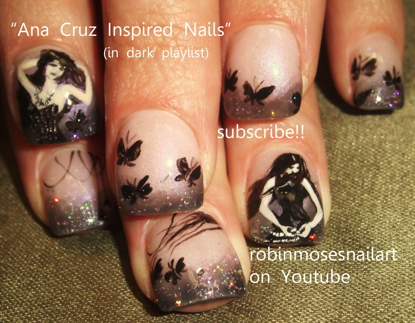 Robin moses nail art ana cruz inspired nail art cute halloween ana cruz inspired nail art gothic beauty prinsesfo Image collections