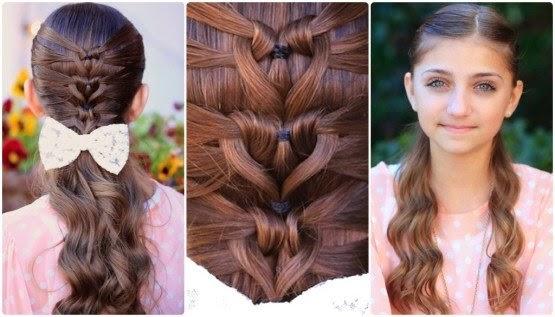 Mermaid Heart Braid - Cute Valentine's Day Hairstyles