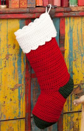 Free Crochet Pattern Quick : Crochet For Free: Quick and Easy Stocking Crochet Pattern