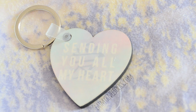 My pastel heart-shaped custom-designed keychain from Snapmade turned out wonderfully and was very well-made.