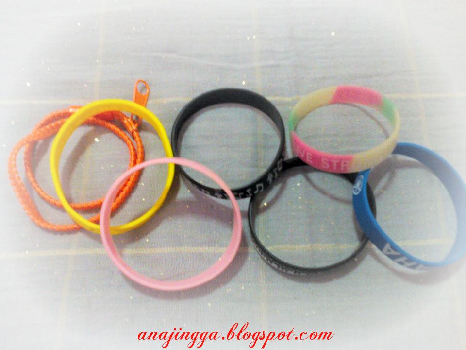 wristband rubber bangles