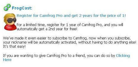Camfrog Pro 2 Tahun