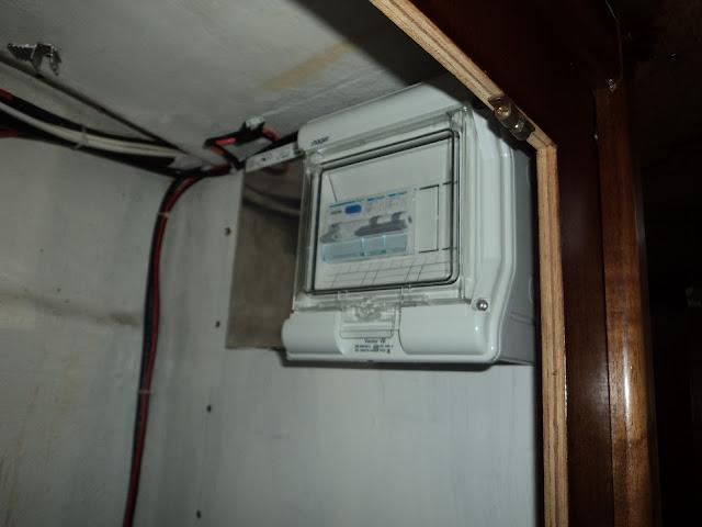 AC breaker panel on boat