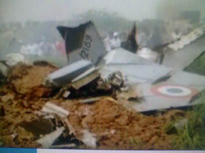 IAF MiG-21 Bison Crashes, Pilot Ejects
