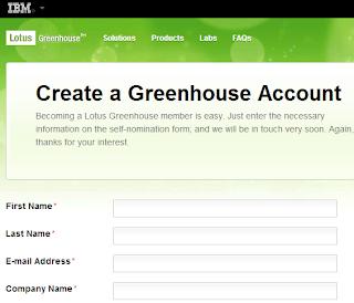 Create a free IBM Greenhouse account